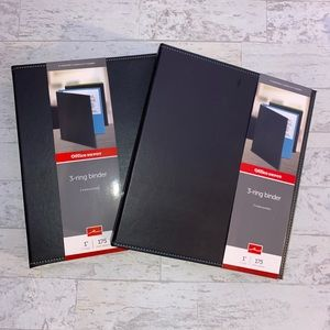 """2 NWT Blue and Green Stitch Leather 1"""" Binders"""